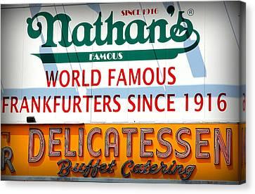 Nathan's Sign Canvas Print
