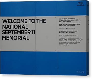 National 9/11 Memorial  Canvas Print by Rob Hans