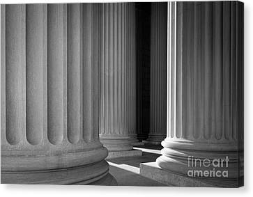National Archives Columns Canvas Print by Inge Johnsson