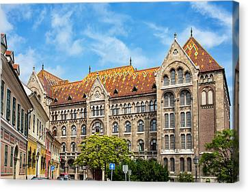 National Archives Of Hungary Canvas Print by Artur Bogacki
