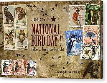 National Bird Day Canvas Print by Carol Leigh