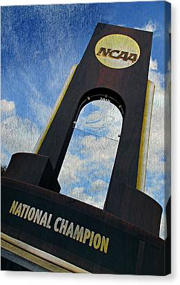 Kentucky Wildcats Canvas Print - National Champions by Stephen Stookey