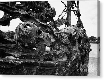 National Famine Memorial Skeleton Ship Murrisk County Mayo Canvas Print by Joe Fox