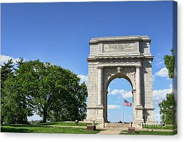 National Memorial Arch At Valley Forge Canvas Print by Olivier Le Queinec