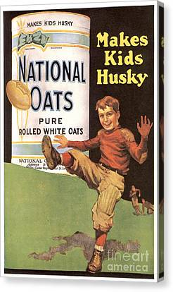 National Oats 1920s Usa Cereals Canvas Print by The Advertising Archives
