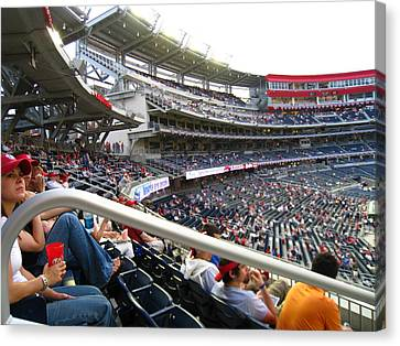 Baseball Canvas Print - Nationals Park - 01133 by DC Photographer