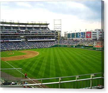 Baseball Canvas Print - Nationals Park - 01135 by DC Photographer