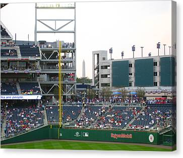 Nationals Park - 01137 Canvas Print by DC Photographer