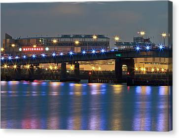 Canvas Print featuring the photograph Nationals Park by Jerry Gammon