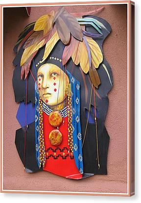 Native American Artwork Canvas Print by Dora Sofia Caputo Photographic Art and Design