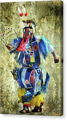 Canvas Print featuring the photograph Native American Dancer by Barbara Manis