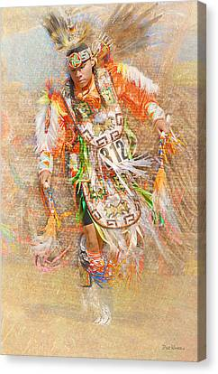 Native American Dancer Canvas Print by Dyle   Warren