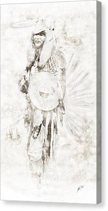 Canvas Print featuring the digital art Native American by Erika Weber