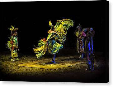 Burger Canvas Print - Native American Fancy Scarf Dancer by Priscilla Burgers
