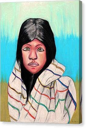Native American Girl 1 Canvas Print