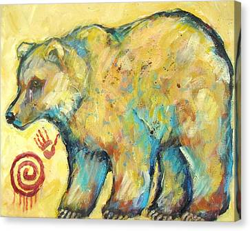 Native American Indian Bear Canvas Print by Carol Suzanne Niebuhr