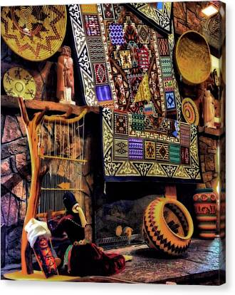 Native American Pottery And Crafts Canvas Print by Dan Sproul