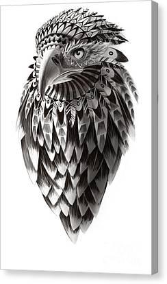 Native American Shaman Eagle Canvas Print by Sassan Filsoof