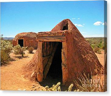 Native American Shelters Canvas Print by John Malone