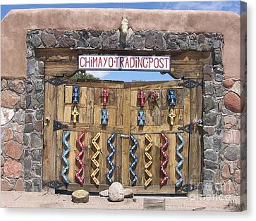 Canvas Print featuring the photograph Native American Trading Post by Dora Sofia Caputo Photographic Art and Design