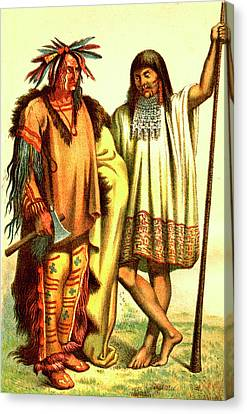 Native Americans Canvas Print by Collection Abecasis