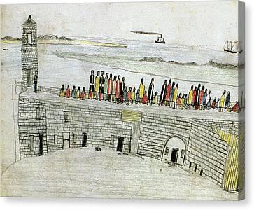 San Marco Canvas Print - Native Americans Prison, 1875 by Granger