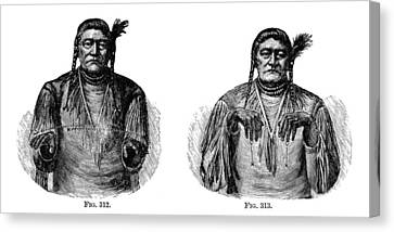 Native Americans: Sign Language Canvas Print by Granger