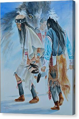 Native Dancers  Canvas Print by Gracia  Molloy
