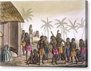 Native Funeral Service Near Luanda Canvas Print by Felice Campi