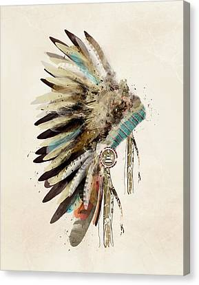 Feathers Canvas Print - Native Headdress by Bleu Bri