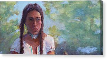 Native Maiden Canvas Print by Gwen Carroll