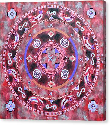 Native Mandala Canvas Print by Vlatka Kelc