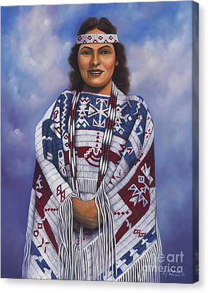 Headband Canvas Print - Native Queen by Ricardo Chavez-Mendez