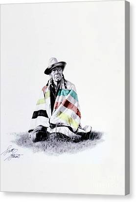 Native West Coast Indian Canvas Print by Al Bourassa