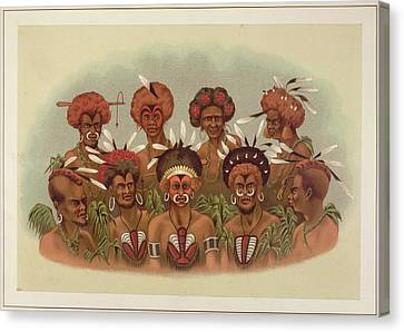Natives Of Humboldt Bay Canvas Print by British Library