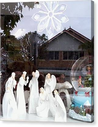 Nativity Canvas Print by Adrianne Wood