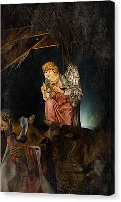 Nativity Angel  Canvas Print by Susan  McMenamin