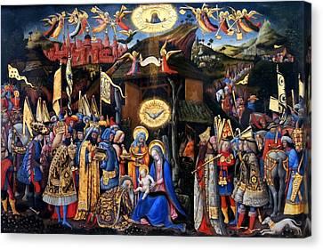 Nativity Angels Canvas Print by Munir Alawi