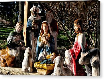Nativity Canvas Print by Bill Cannon