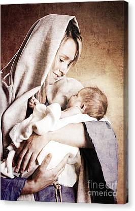 Nativity Canvas Print by Cindy Singleton