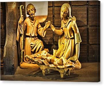 Nativity Canvas Print by Cricket Hackmann