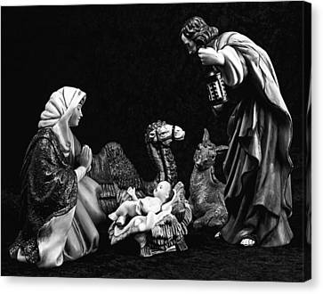 Canvas Print featuring the photograph Nativity  by Elf Evans
