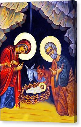 Nativity Feast Canvas Print by Munir Alawi