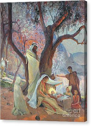 Nativity Canvas Print by Frederic Montenard
