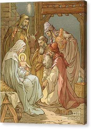 Nativity Canvas Print by John Lawson