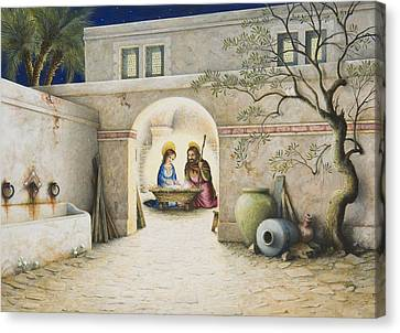 Nativity Canvas Print by Lynn Bywaters