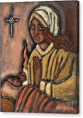 Nativity Canvas Print by Maya Telford