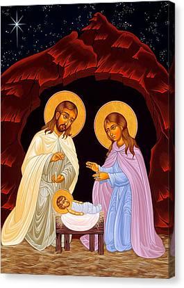 Nativity Night Canvas Print by Munir Alawi