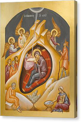 Nativity Of Christ Canvas Print by Julia Bridget Hayes