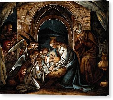 Nativity Of Jesus Canvas Print